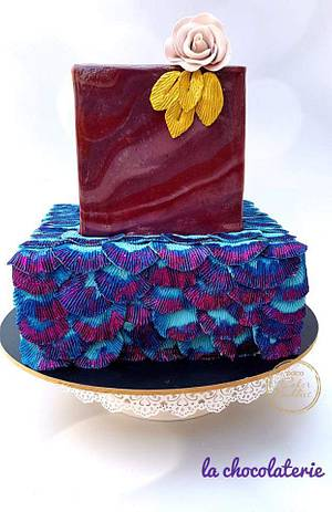 CAKER BUDDIES ULTRA VOILET COLLABORATION: DAZZLER - Cake by Lachocolaterie