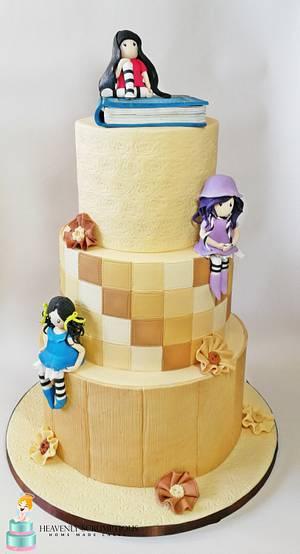 Santoro Gorjuss Birthday Cake ! - Cake by Iwona Sobejko