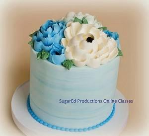 Jumbo Buttercream Flowers  - Cake by Sharon Zambito