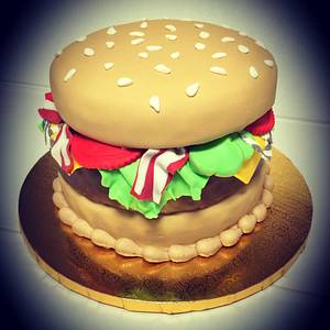 Cheeseburger Cake - Cake by Cakes By Rian