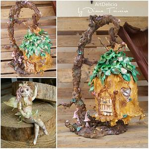 Enchanted House/Forest - Cake by Unique Cake's Boutique
