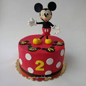 Mickey Mouse - Cake by Hokus Pokus Cakes- Patrycja Cichowlas