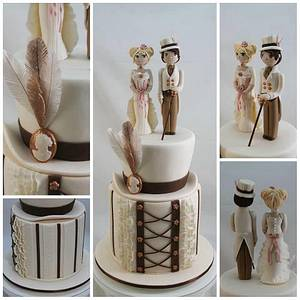Vintage Wedding - Cake by Kake Krumbs
