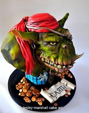 sugar pirates collaboration - Garth - Cake by Lesley Marshall cake art