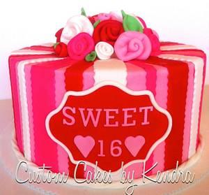 SWEET 16, VALENTINE'S WEEK - Cake by Kendra