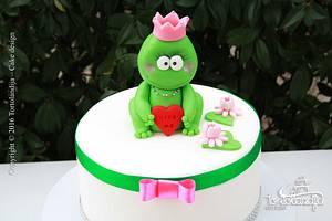 The frog princess - Cake by Tortolandija