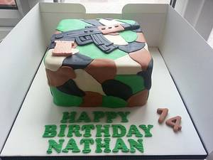 Army Camouflage / rifle cake   - Cake by Mrsmurraycakes