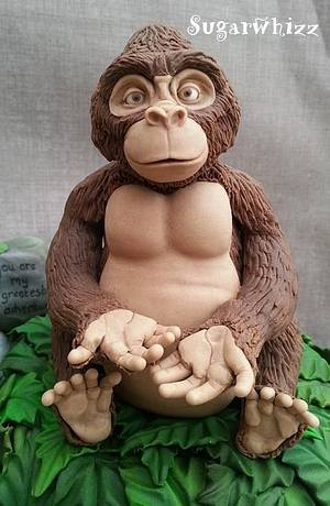 Kala, Tarzan - Up close and Personal - Cake by Sugarwhizz
