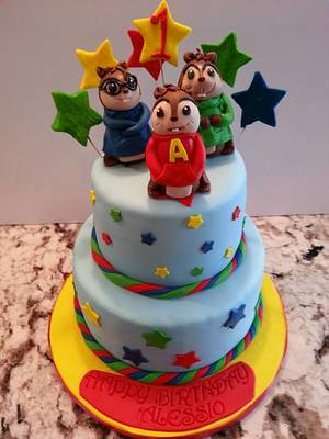 Alvin and the Chipmunks - Cake by Enza - Sweet-E