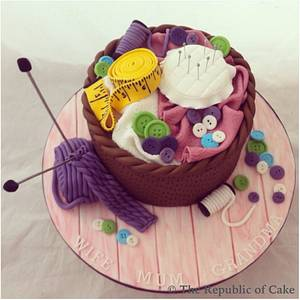Sewing craft box cake - Cake by The Republic of Cake