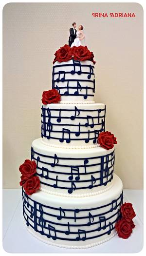 Music Note Wedding Cake - Cake by Irina-Adriana