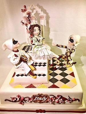 La commedia dell'Arte XVI century in Italy - Cake by Rossella Curti
