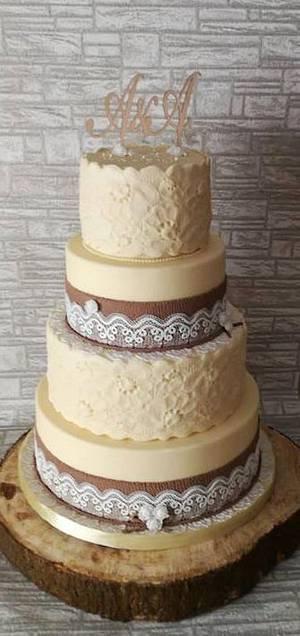 Rustic wedding cake - Cake by Rositsa Lipovanska