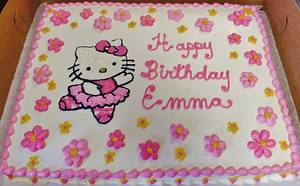 Hello Kitty buttercream sheet cake - Cake by Nancys Fancys Cakes & Catering (Nancy Goolsby)