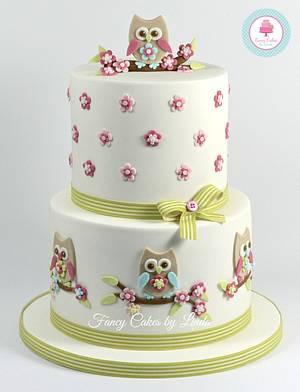 Owl Themed Celebration Cake - Cake by Ceri Badham