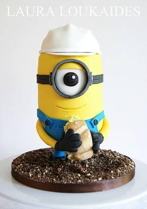 Construction Minion Cake - Cake by Laura Loukaides