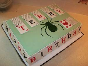 Spider Solitaire - Cake by jens cakes