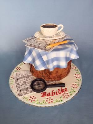 Coffee & crosswords  - Cake by Layla A