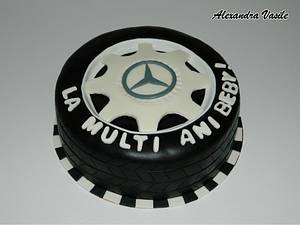 Mercedes wheel cake - Cake by alexandravasile