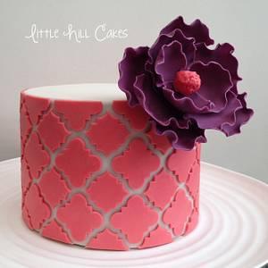 Quatrefoil Flower Cake - Cake by Little Hill Cakes