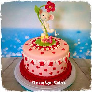 Cute mouse - Cake by Nanna Lyn Cakes