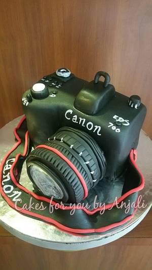 Cannon camera cake  - Cake by AnjaliG