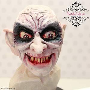 """Nosferatu Vampire"" cake  - Cake by Natalia Salazar"