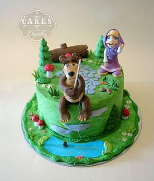 Masha and the bear - Cake by Dzesikine figurice i torte