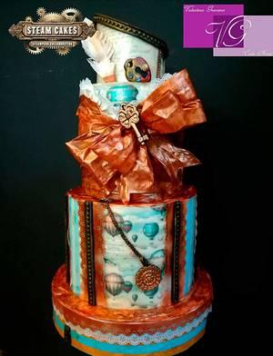 Wafer Paper Steampunk  - Cake by Valentina Graniero