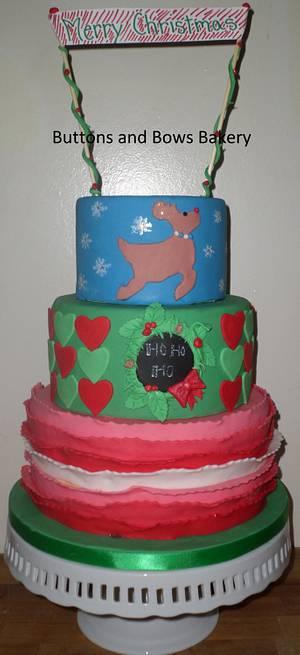 Reindeer Games Christmas Cake - Cake by CakeLuv
