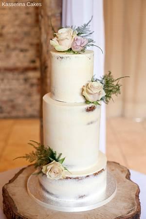 3T semi-naked cake - Cake by Kasserina Cakes