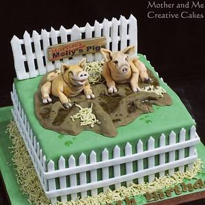 Pigs in the Mud! - Cake by Mother and Me Creative Cakes