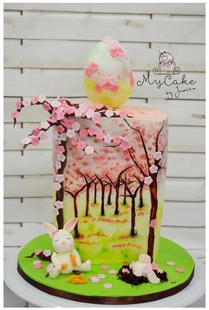 Cherry blossom ~ Easter / spring cake - Cake by Hopechan