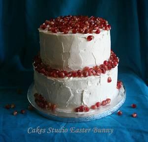 Pomegranate wedding cake - Cake by Irina Vakhromkina