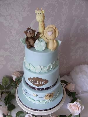 Jungle Theme 1st Birthday Cake - Cake by Lulu Belles Cupcake Creations