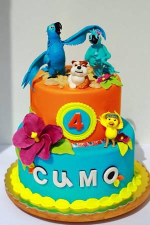 RIO movie cake - Cake by laskova