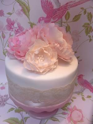 Pretty Pink Peonies...x - Cake by Lulu Belles Cupcake Creations
