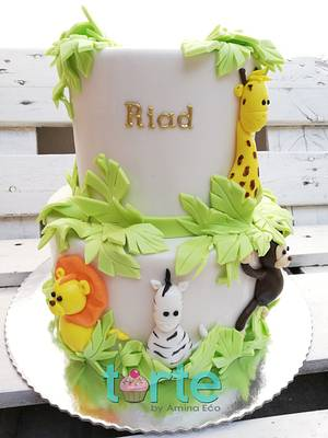 Riad's little jungle - Cake by Torte by Amina Eco