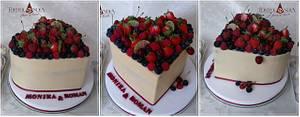 Wedding cake & Heart - Cake by Tortolandia