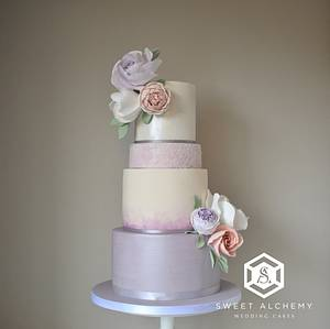 Shades of Lilac - Cake by Sweet Alchemy Wedding Cakes