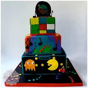 Colourful Retro - Cake by Sabrina - White's Custom Cakes