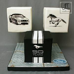 Ford Mustang 50th Anniversary Collaboration - Cake by JT Cakes