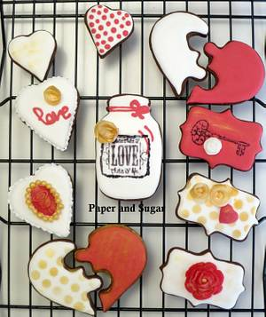 Valentine's Cookies - Cake by Dina - Paper and Sugar