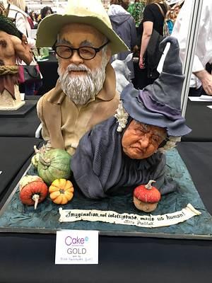 Sir Terry Pratchett and Nanny Ogg  - Cake by Nightwitch