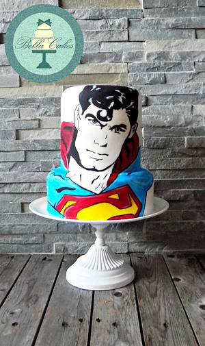 Superman - Cake by Bella Cakes