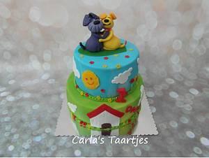 2 dog friends - Cake by Carla