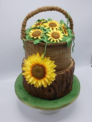 Sunflower  - Cake by Olina Wolfs