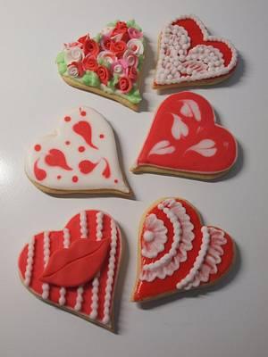 Valentine hearts - Cake by sugardiver62