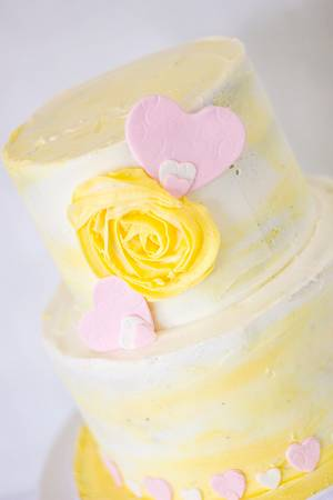 Yellow flower - Cake by Anchored in Cake