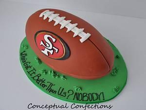 49ers Football Cake - Cake by Jessica